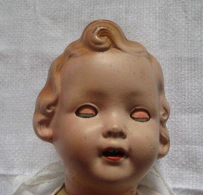 K.W.G Puppe 1382/3 Keramische Werke Gräfelhain ca.1932, handgemachte Lederschuhe