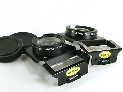 Rokunar Auxiliary Lens Set Telephoto & Wide Angle Lens for AF 35mm Cameras 2