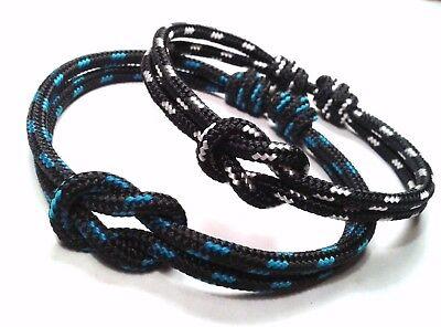 Pulsera cuerda nudo marinero Ajustable Unisex Nautical cord knot 7