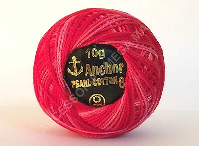 2 x ANCHOR Pearl Cotton Solid /& Variegated crochet sewing thread Orange balls