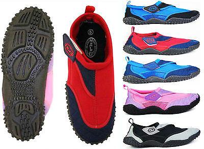 Aqua Beach Surf Water Wet Shoes - Boys Girls Mens Womens Wetsuit Boots 4