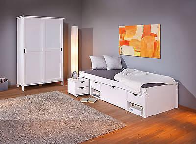 bett kinderbett funktionsbett schubladen wei massivholz. Black Bedroom Furniture Sets. Home Design Ideas