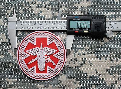 Rubberpatch Rubber Aufnäher Patch Klett EDC BoB 3D Prepper Tactical Tac Sani