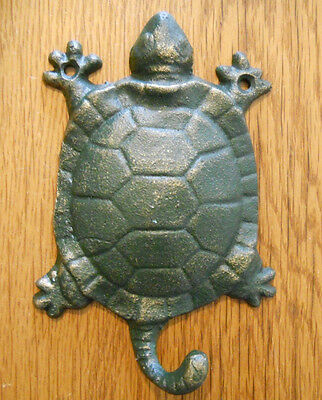 Cast Iron Antique Style Nautical TURTLE Coat Hooks Hat Hook Rack Towel Sea 2