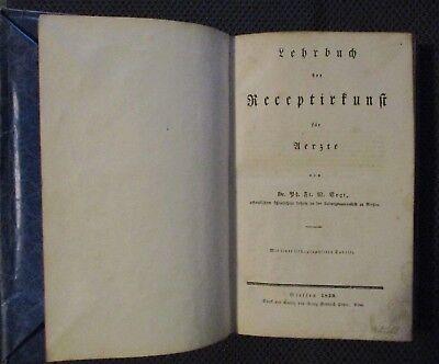 Lehrbuch der Receptirkunst für Ärzte 1829 Dr.W.Vogt Universität Giessen