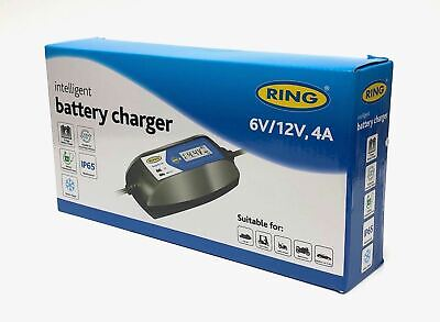 Ring 4A Intelligent Smart Battery Maintenance Charger 12V 6V Charges Twice  Fast 2