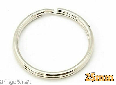 Split Rings Key Ring - 15mm 20mm 25mm 30mm 35mm - Pack Size 10 to 1000 - keyring 7