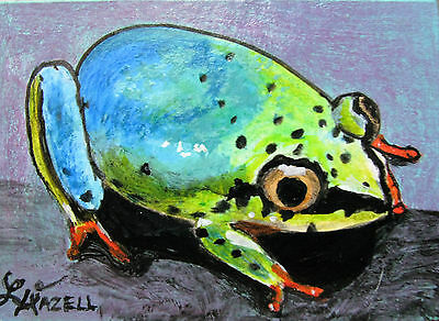 """A871    Original Acrylic Aceo  Painting By Ljh        """"Octopus"""" 9"""
