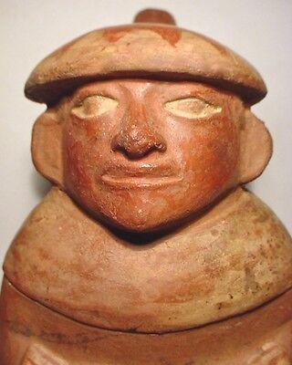 Pre-Columbian MOCHE DRUMMER S/S VESSEL EX: SOTHEBY'S '79 9