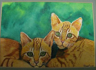 "C25     Original Acrylic Painting By Ljh     ""Javanese""       Cat Kitten 8"