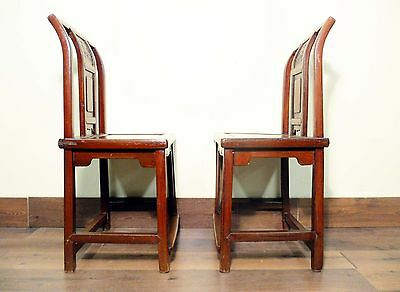 Antique Chinese Ming Chairs (5435) (Pair), Zelkova Wood, Circa 1800-1949 11