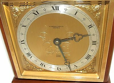 Large ELLIOTT LONDON Walnut Bracket Mantel Clock : H L BROWN & SON LTD SHEFFIELD 4