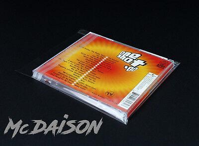 McDAISON 100 BUSTE CD DVD per custodie JEWEL CASE RICHIUDIBILI fascetta adesiva
