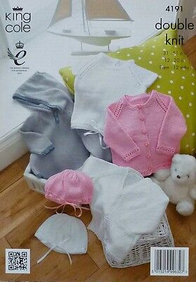 KNITTING PATTERN Baby Cardigans, Hats, Hoodie and Top DK King Cole 4191 3