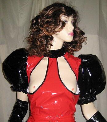 Lackoverall ,Busenfreier Overall, alle Größen,Vinyloverall long with open Breast 5