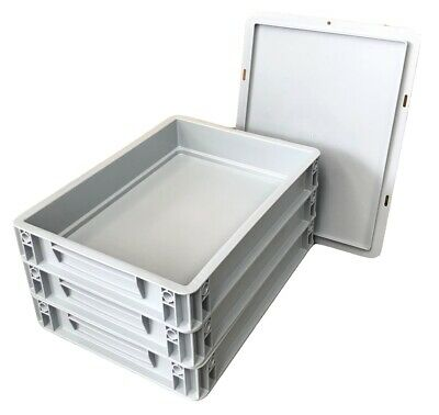 Home Made Pizza Dough Starter Pack - 3 x Stacking Trays + 20L Airtight Flour Bin 2