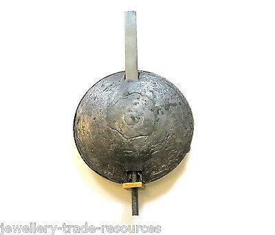 "3.5"" Brass & Lead Clock Pendulum Bob + Steel Fitting Grandfather Longcase Spares 2"