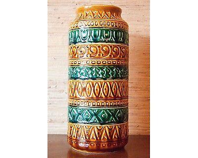 Attraktive Bodenvase 60er Jahre * BAY * Relief Keramik W-Germany Super Zustand !