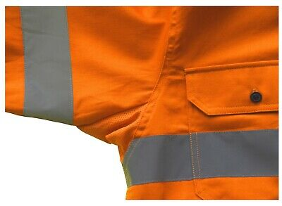 3x HI VIS Shirts COTTON DRILL SAFETY WORK 3M REFLECTIVE LONG SLEEVE VENTILATED 11