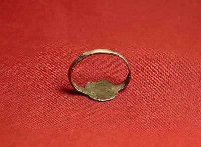 Medieval Knight's Silver Seal Ring - Bird Seal, 12. Century