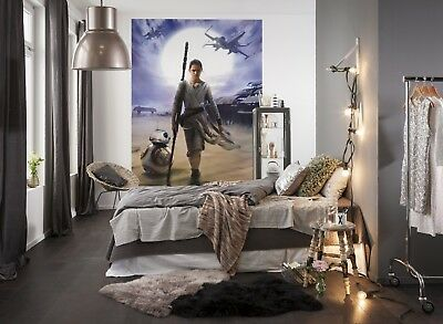 Christmas Gift Star Wars Wallpaper Children S Bedroom Photo Wall Mural Rey X Wig Eur 48 36 Picclick Fr