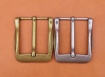 40mm Cool Solid Antique Brass Casual Men Single Pin Prong Leather Belt Buckle 10