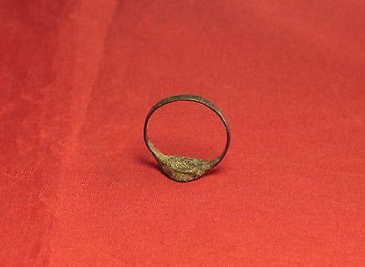 Ancient Roman Seal Ring, Finger Ring, 5. Century 3