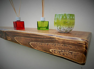 3 Inches Thick  Floating Shelf Mantel Rustic Reclaimed Wooden Storage Shelves 3