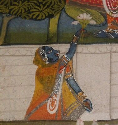 B.C.A.D ART- Framed Painted Mogul of a Jinn / Genie