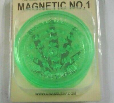 3 PART 60mm GRASSLEAF No1 MAGNETIC GRINDERS, FOR GRINDING GRASS/HERB/SPICE 4