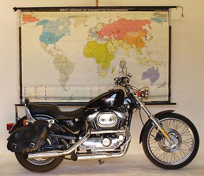 Schulwandkarte schöne alte Weltkarte Bündnisse 198x125 vintage world map 1969 2
