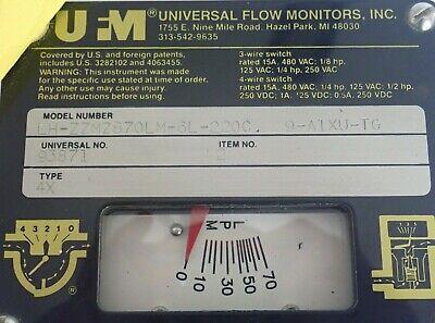 Universal 93871 Flow Monitor -70 Ltrs / Minute Lh-Zzmzb70Lm-6L-220C 9-A1Xu-Tg 3
