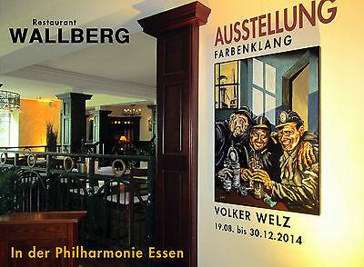 Volker Welz Künstler Flyer Kunstausstellung Kunst Essen Steele im Stadtgarten AK 6
