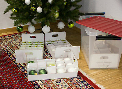 Aufbewahrungsbox Christbaumkugeln.Aufbewahrungsbox Fur Christbaumkugeln Mit Stabilen Einsatzen Fur O 60 80 100 Mm