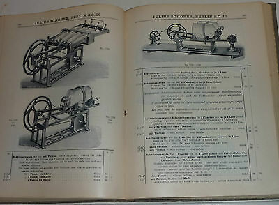 RARITÄT: Julius Schober Katalog Metallwaren für Chemie,Pharmazie,Technik ca.1915