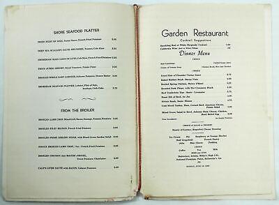 1960 Vintage Dinner Menu The Shoreham Hotel Garden Restaurant Washington Dc 27 69 Picclick Uk