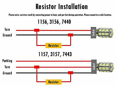 10x 50W 6 ohm Load Resistor Fix LED Bulb Fast Hyper Flash Turn Signal Blink 4