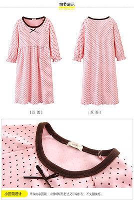 Girls Kids Children Pyjamas long sleeve Nightwear Cotton Night Dress Nightie 7
