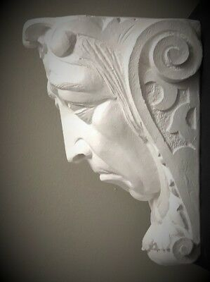 Sad Lady Wall Corbel Bracket Shelf Architectural Accent Home Decor 2