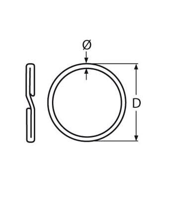 20mm 316 Stainless Steel Key Rings Heavy Duty Split Rings scuba gear 10 pack 2