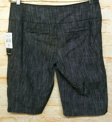 CHIME Indian Summer Short Pants 2 Pockets Black Gray Casual Women Size 11 2
