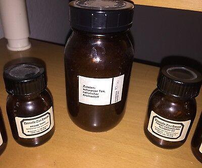 7 Braune Schraubgläser Apotheke Arzt Vorrat Tee Apothekerflaschen