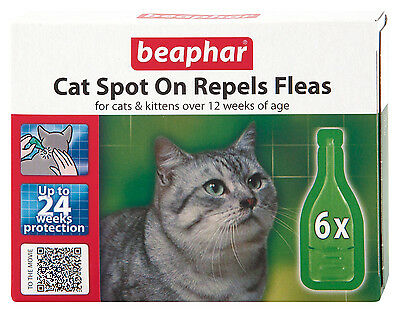 Beaphar Cat Kittens Spot On Treatment Repels Fleas 24 Weeks Protection 2 • EUR 10,16
