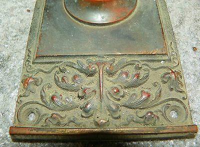 Oversized Cast Bronze Back Plate With Floral Filled Urn Top 4810J