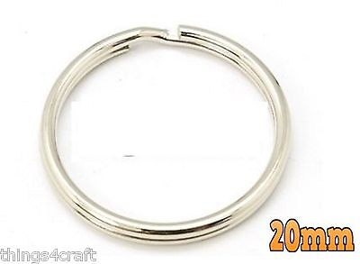 Split Rings Key Ring - 15mm 20mm 25mm 30mm 35mm - Pack Size 10 to 1000 - keyring 4