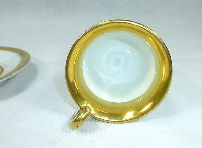 Biedermeier Tasse mit Untertasse um 1850 8