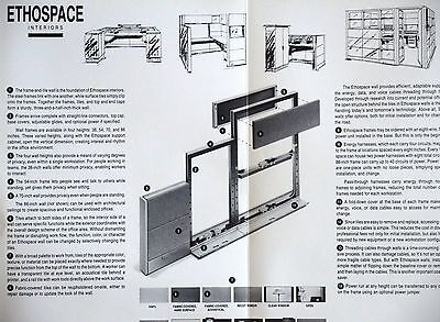 """86/""""H HERMAN MILLER ETHOSPACE 24/""""Wx 86/""""H Wall  powered Frame"""