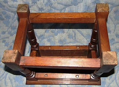 Antique Style SOLID Oak Joint Stool / Occasional Table / Lamp Stand (35) 8