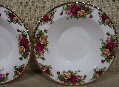 2X Royal Albert Old Country Rose Set 2 Rim Soup Bowls Cereal Bowls Never Use 6