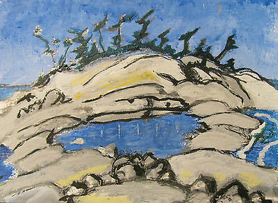 """A444 Original Acrylic Art Aceo Painting By Ljh One-Of-A-Kind """"Ireland Landscape"""" 5"""